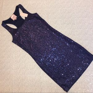 Romeo & Juliette Couture Navy sequin mini dress